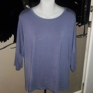 Womens sz XL TAHARI slate gray top